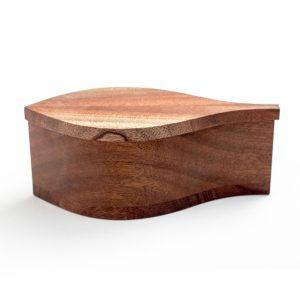 Lehtivaikala puinen design rasia